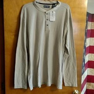 Men's XL Long sleeve Henley shirt. NWT